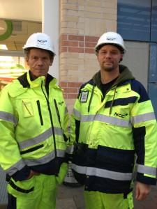 Byggarbetare vid Täby C